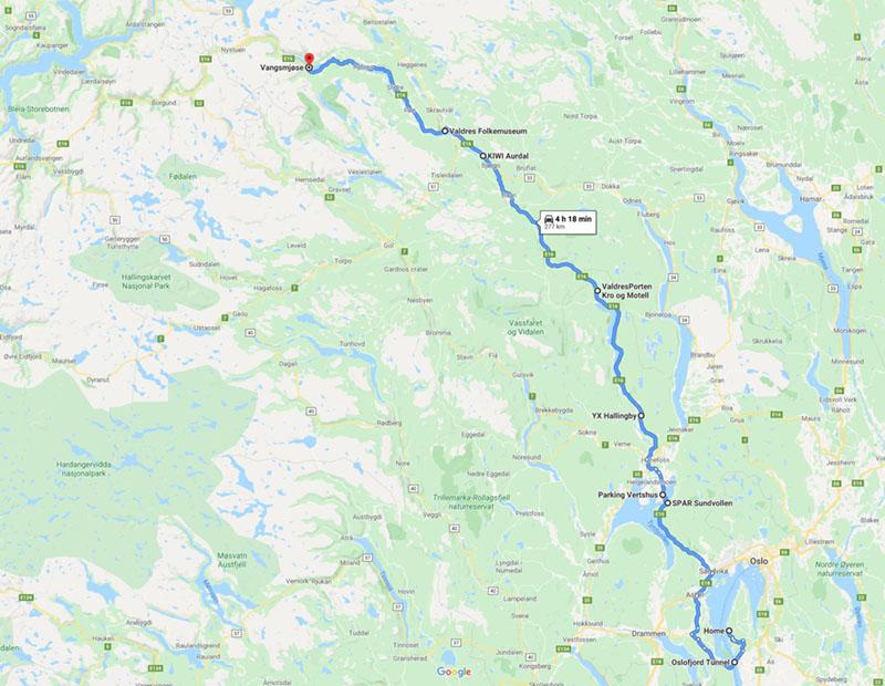 home-to-spar-1 ノルウェー国内旅行記1 雪景色とフィヨルド